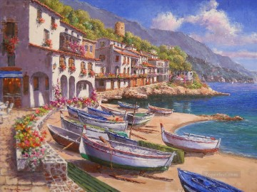 Mediterranean 23 Beach Oil Paintings