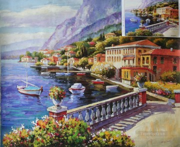 Mediterranean 28 Beach Oil Paintings