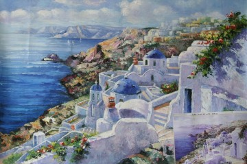 Mediterranean 32 Beach Oil Paintings