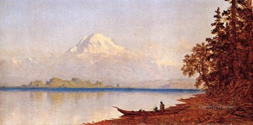 Mount Ranier Washington Territory scenery Sanford Robinson Gifford Beach Oil Paintings
