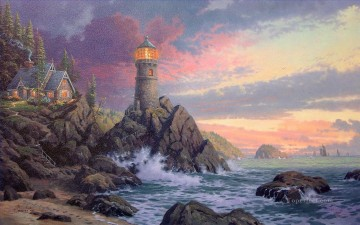 Rock Of Salvation Thomas Kinkade Beach Oil Paintings