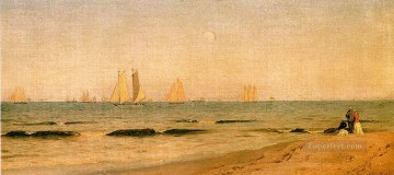 Beach Painting - Sandy Hook 1865 scenery Sanford Robinson Gifford Beach