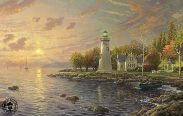 Serenity Cove Thomas Kinkade Beach Oil Paintings