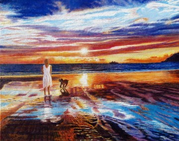 Sunset Farewell Oil Paintings