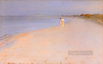 Tarde de verano en Skagen 1893 Peder Severin Kroyer Beach Oil Paintings