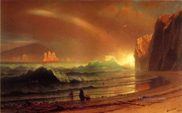 The Golden Gate Albert Bierstadt Beach Oil Paintings