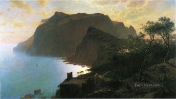 The Sea from Capri scenery William Stanley Haseltine Beach Oil Paintings