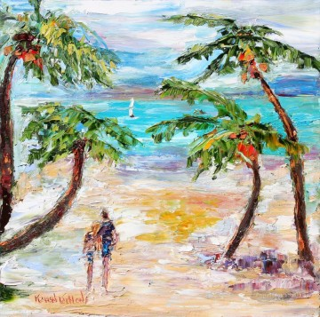 Tropical Romance Beach Oil Paintings