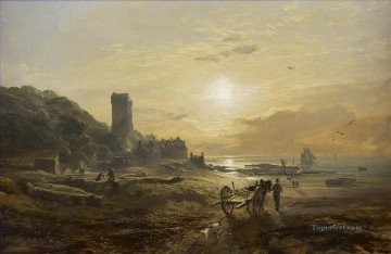View of Dysart on the Forth Samuel Bough beach Oil Paintings