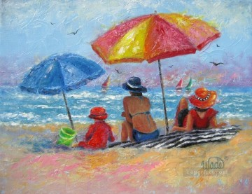 beach impressionism Oil Paintings