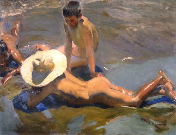 boys on the beach 1908 Oil Paintings