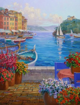memories of portofino Beach Oil Paintings