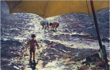 Beach Painting - midday at valencia beach 1904