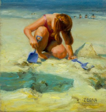 scaledhelena on the beach Oil Paintings