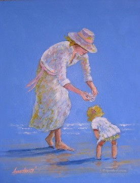 Mother Art - seaside treasure mother and child