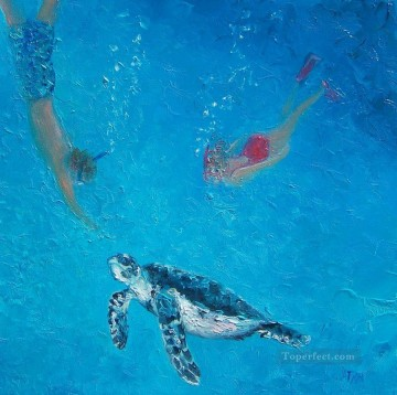 turtle Beach on Ruby Lane Oil Paintings
