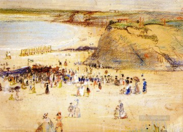 Beach Painting - Charles Conder The Beach Newquay