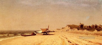 Beach Painting - Long Branch Beach scenery Sanford Robinson Gifford
