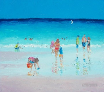 Beach Painting - Reflections of beach