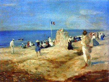 Beach Painting - The Beach at Ambleteuse