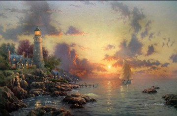 Beach Painting - The Sea Of Tranquility Thomas Kinkade Beach