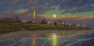 Twilight Moon Keathley Beach Oil Paintings