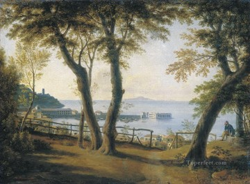 italian seaside landscape Maxim Vorobiev classical Oil Paintings