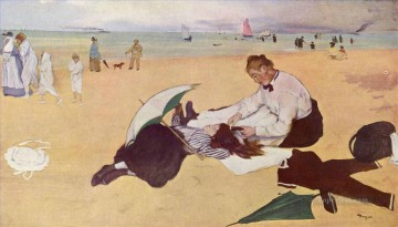 Edgar Degas beach Oil Paintings