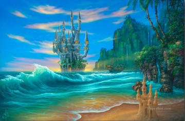 Fantasy Beach Oil Paintings