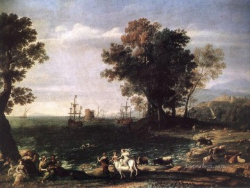 Rape Art - The Rape of Europa landscape Claude Lorrain Beach