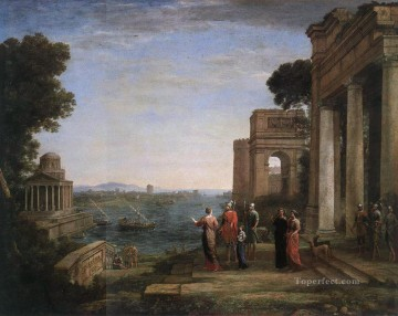 Aeneas Farewell to Dido in Carthago landscape Claude Lorrain Beach Oil Paintings