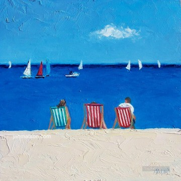 beach impasto Oil Paintings