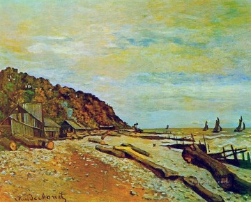 Boat Painting - Boatyard near Honfleur Claude Monet