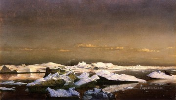 Floe Ice boat seascape William Bradford Oil Paintings