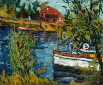 RUEIL THE BOAT GARAGE Maurice de Vlaminck vessels Oil Paintings