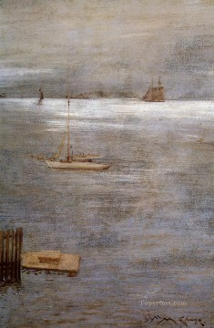 Boat Painting - Sailboat at Anchor impressionism William Merritt Chase