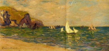 Boat Painting - Sailboats at Sea Pourville Claude Monet