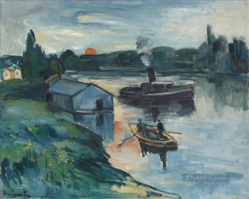 Landscapes Painting - Wash house in Chatou Maurice de Vlaminck vessels