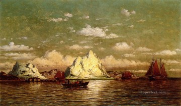 Arctic Harbor boat seascape William Bradford Oil Paintings