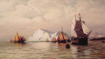 Bradford Canvas - Artic Caravan boat seascape William Bradford