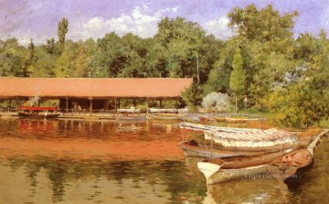 Boat Painting - Boat House Prospect Park impressionism William Merritt Chase