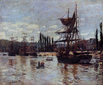 Boats at Rouen Claude Monet Oil Paintings