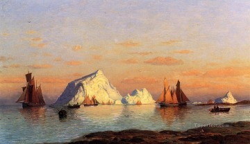 Boat Painting - Fishermen off the Coast of Labrador boat seascape William Bradford