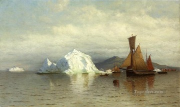 Bradford Canvas - Labrador Fishing Boats near Cape Charles boat seascape William Bradford