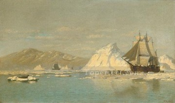 Boat Painting - Off Greenland boat seascape William Bradford