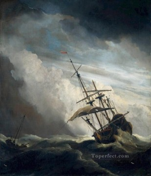 Ship marine Willem van de Velde the Younger boat seascape Oil Paintings