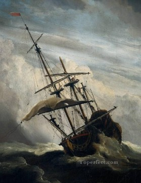 PD Art - ShipDet marine Willem van de Velde the Younger boat seascape