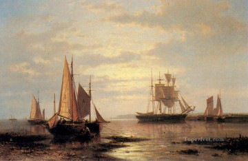 Boat Painting - Twilight Sails Abraham Hulk Snr boat seascape