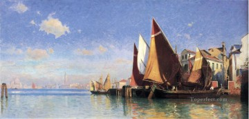 Boat Painting - Venice I seascape boat William Stanley Haseltine