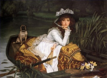 Boat Painting - Young Lady in a Boat James Jacques Joseph Tissot